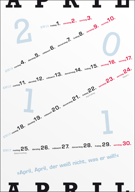 David Baudisch: Kalender