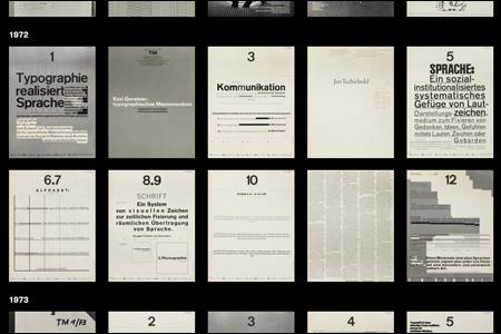 Typographische Monatsblätter 1960—1990