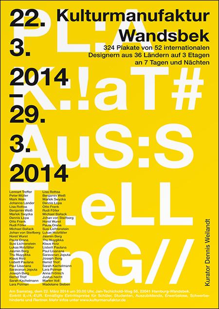 Dennis Weilandt — Plakat — Typo & So