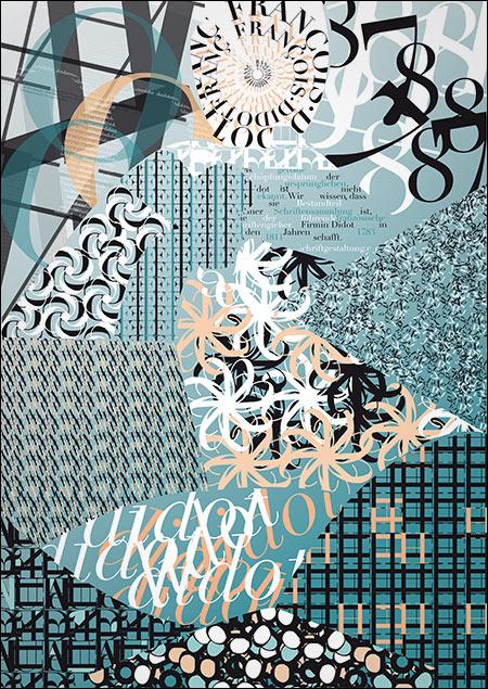 Typo-Textur von Sina Kropshofer
