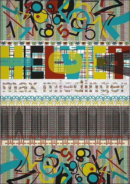 Typo-Textur von Sina Stankus